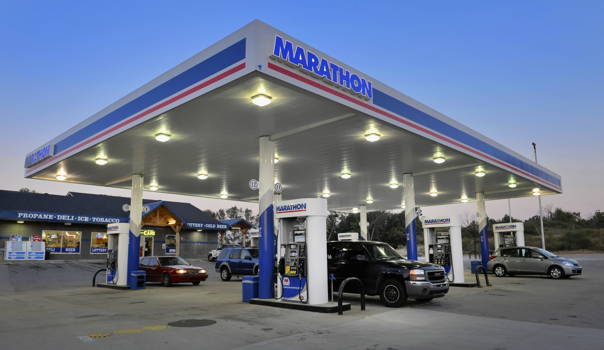 What gas stations high-quality gasoline 44
