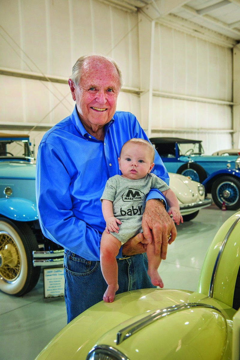 Ron Moore with his great-grandson