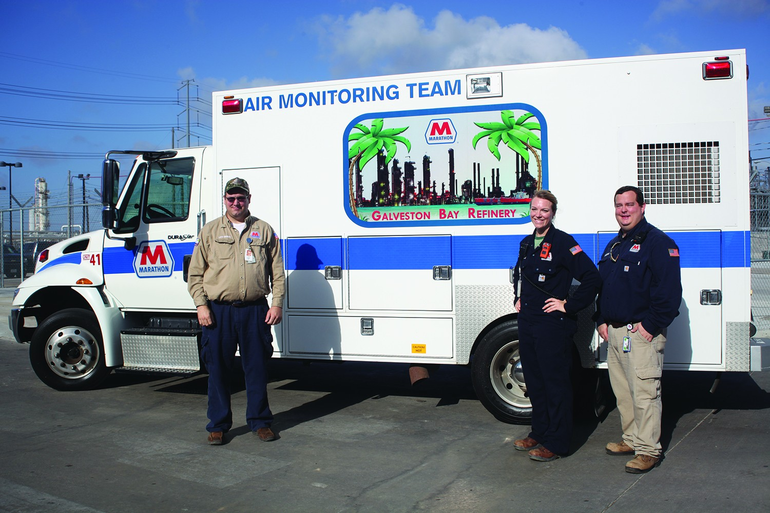 HES Professionals at MPC stand next to the new mobile monitoring vehicle