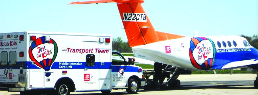 The Just for Kids transport and airplane have benefited patients at Korsair Children's Hospital.