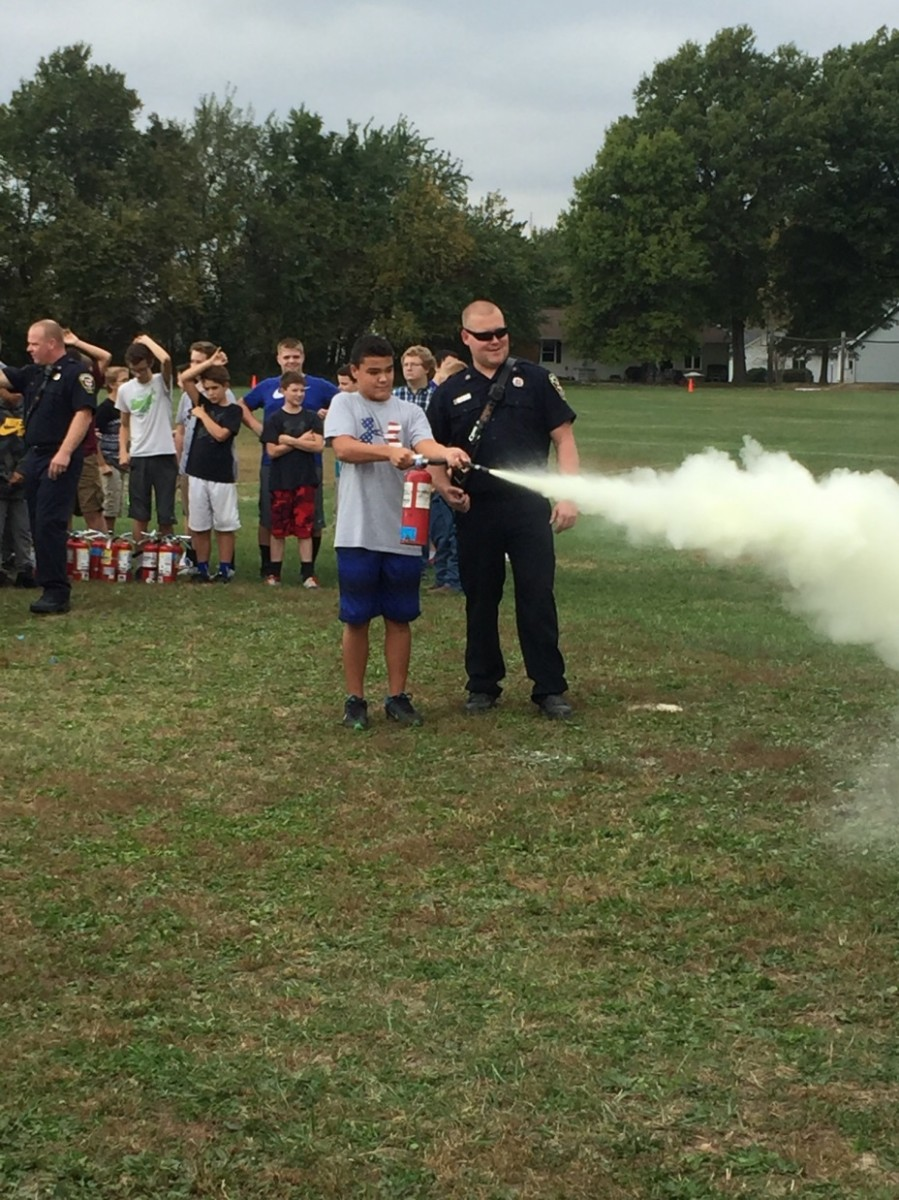 MPC's Robinson Refinery partners with local fire officials to educate middle school students about fire safety. The program has already proven to be useful.
