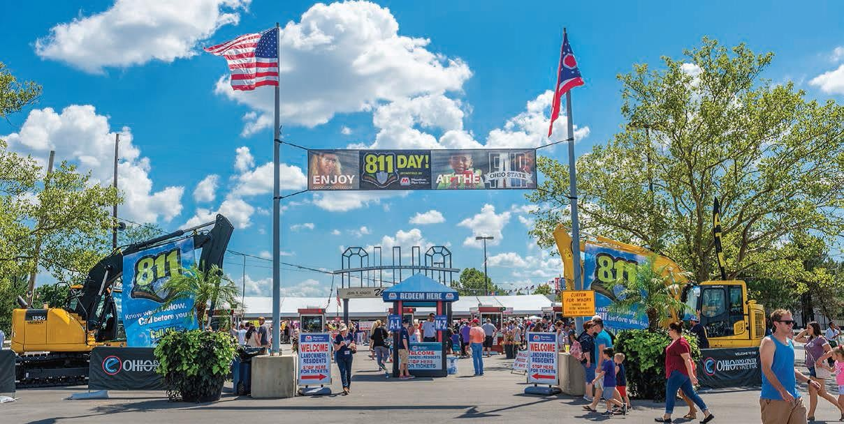 In August, Marathon Pipe Line sponsored a special promotion at the Ohio State Fair in honor of National 811 Day.