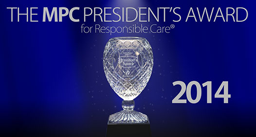 MPC President's Award graphic (2014 trophy is awarded in 2015)