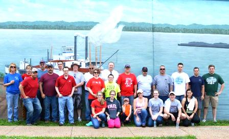 MPC Catlettsburg refinery and Marine employees teamed up to participate in the Ohio River Sweep