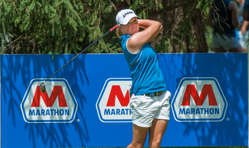 Stacy Lewis, an Olympic hopeful, is MPC's sponsored LPGA player, and is the hometown favorite this week at the Marathon Classic .