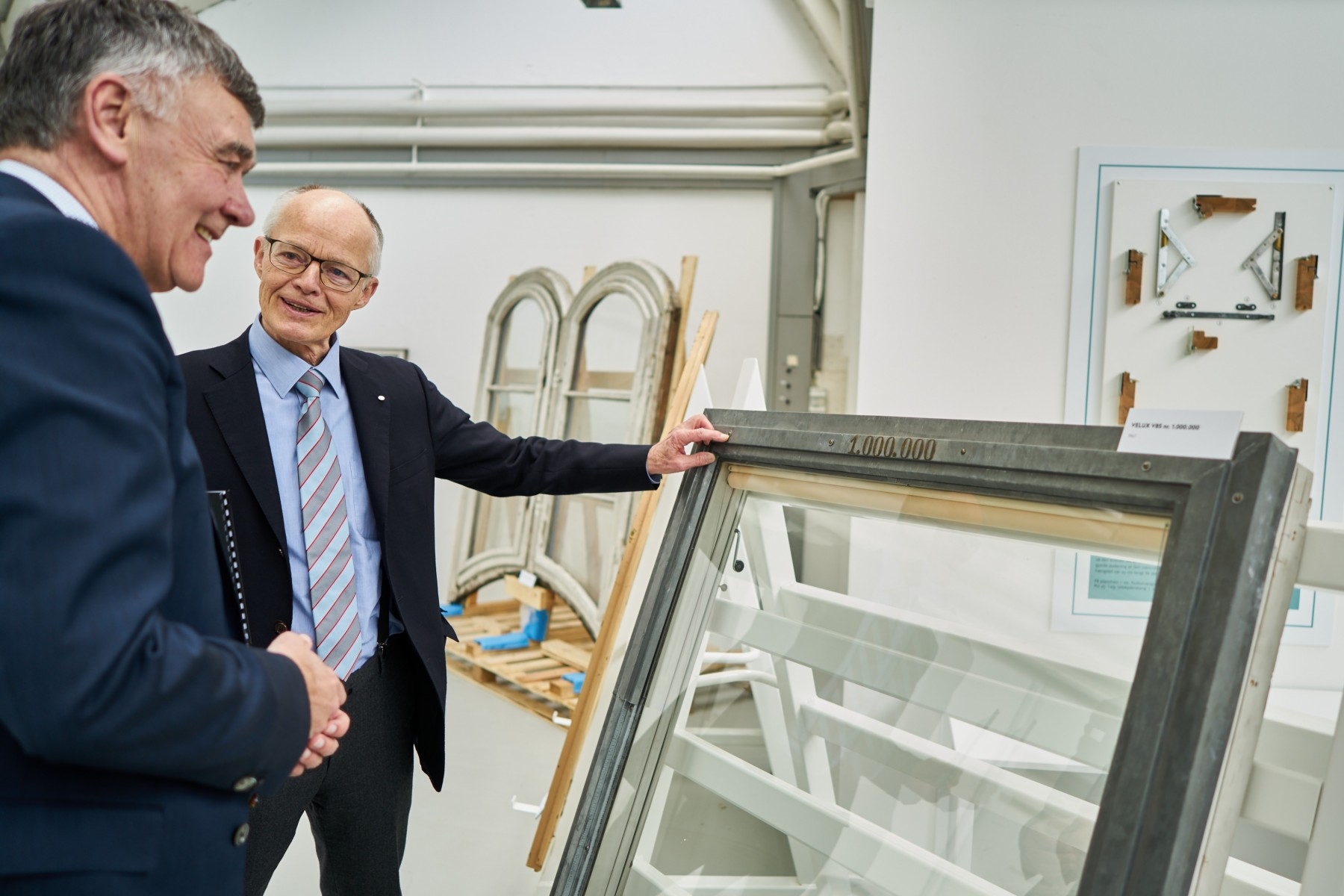 Former CEO of the VELUX Group, Jørgen Tang-Jensen (left), together with Lars Kann-Rasmussen