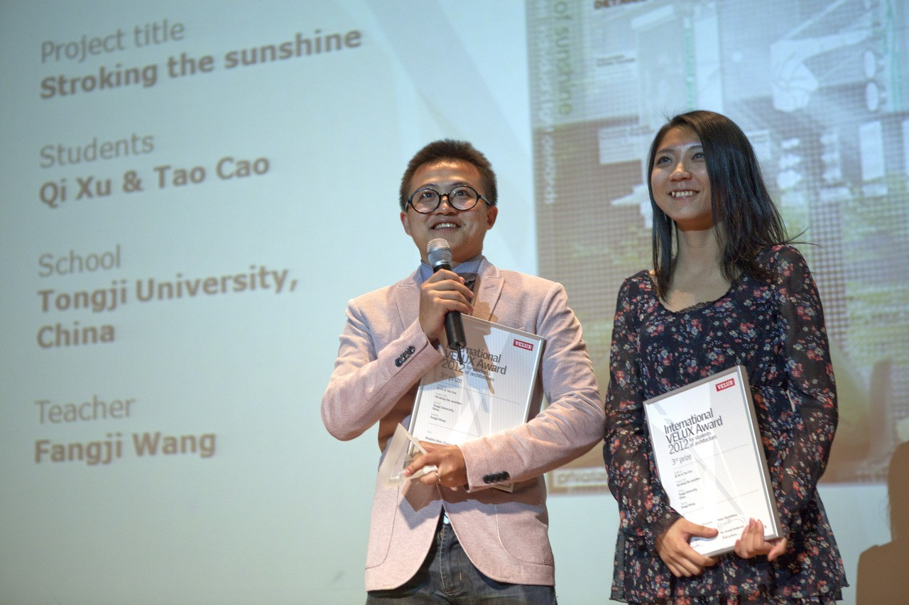 Former winners of the international VELUX awards 2013 Qi Xu and Tao Cao