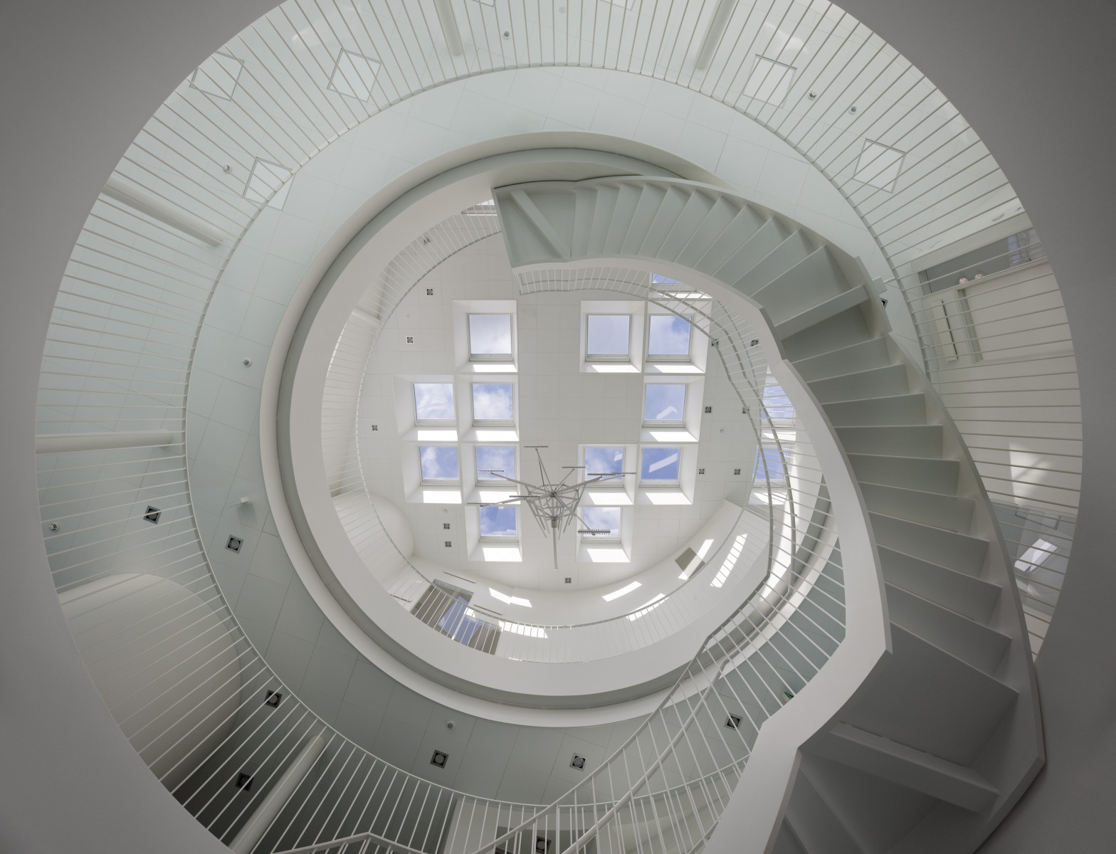Green Lighthouse interior staircase