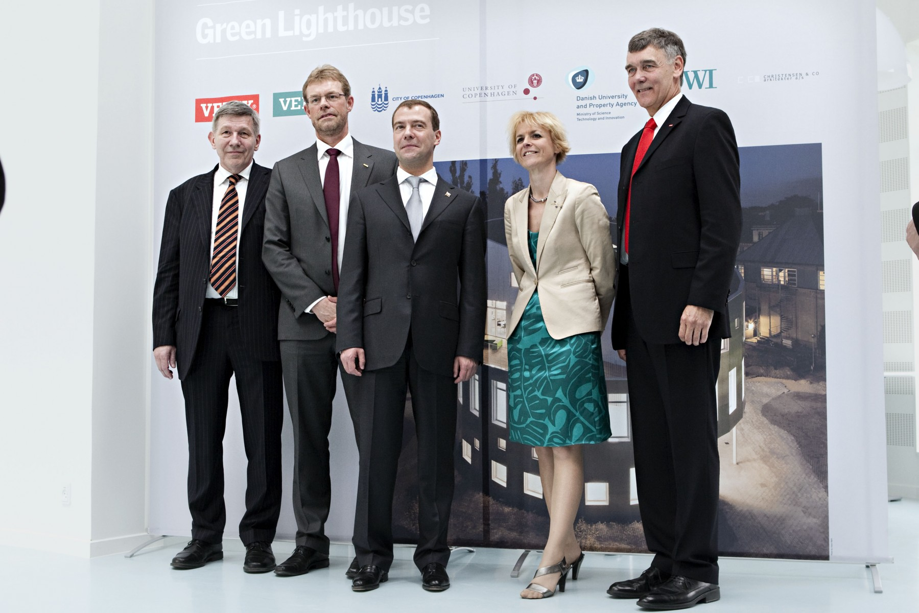 President Medvedev in Green Lighthouse