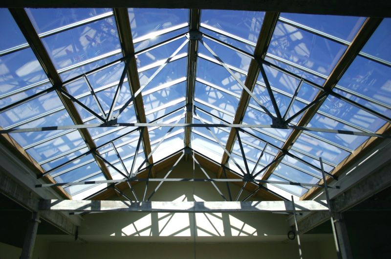 Vitral roof glazing