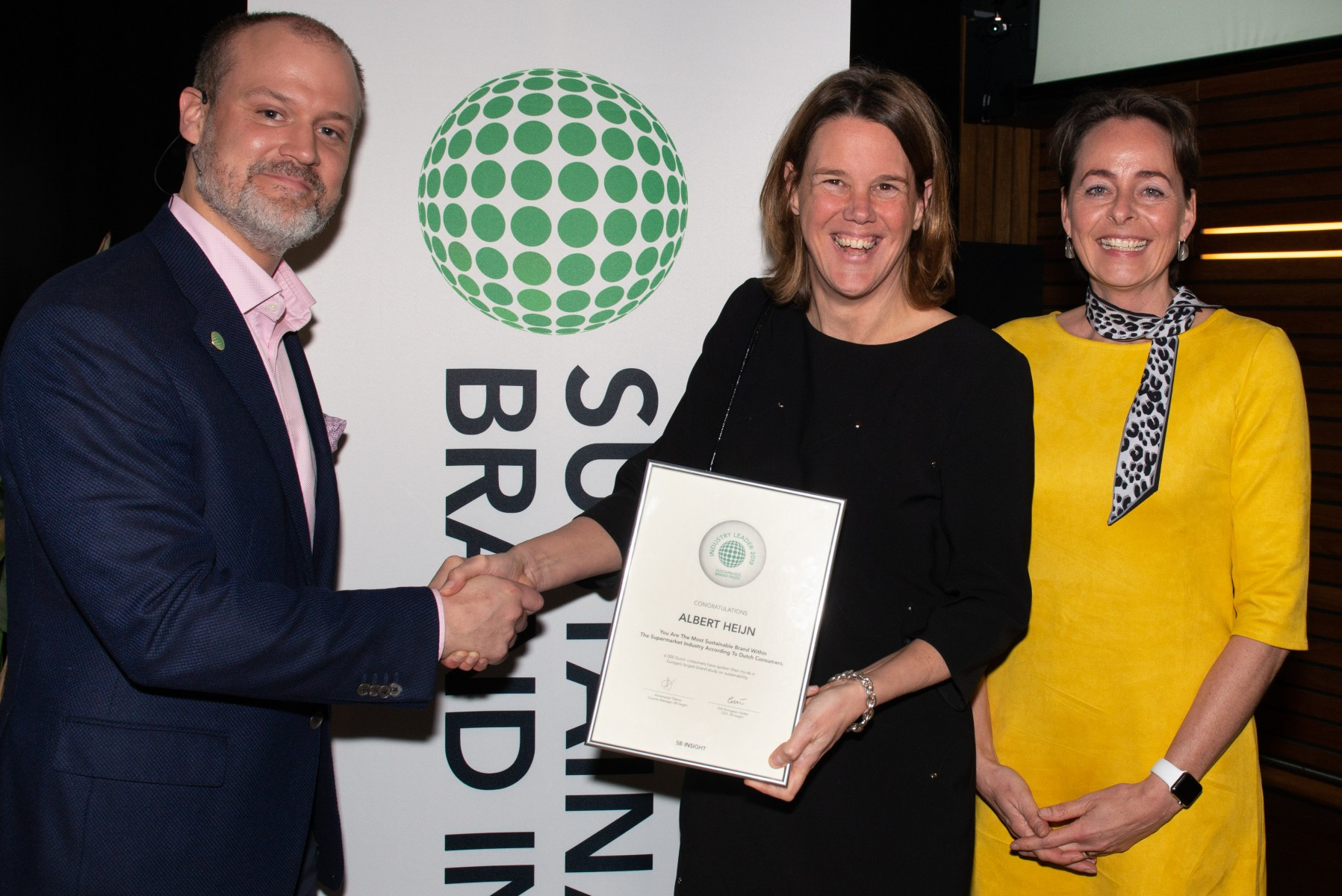 Uitreiking Sustainable Brand Awards 2019