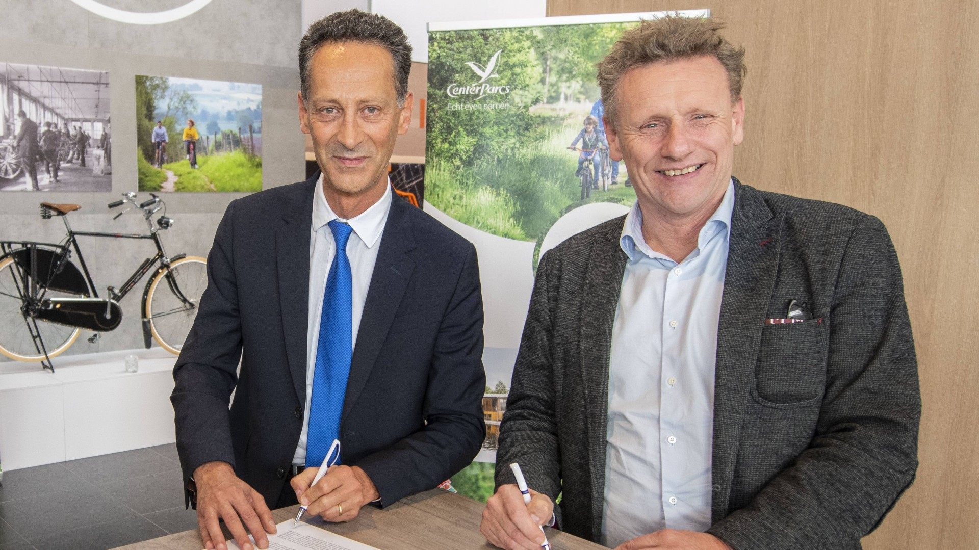 Center Parcs verlengt samenwerking Koninklijke Gazelle  met ingebruikname 15