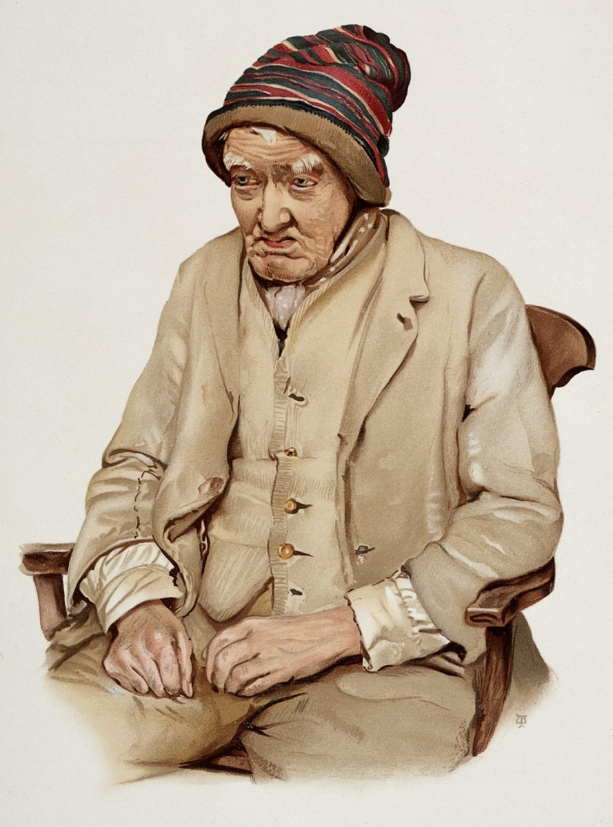 An_old_man_diagnosed_as_suffering_from_senile_dementia._Colo_Wellcome_L0026689