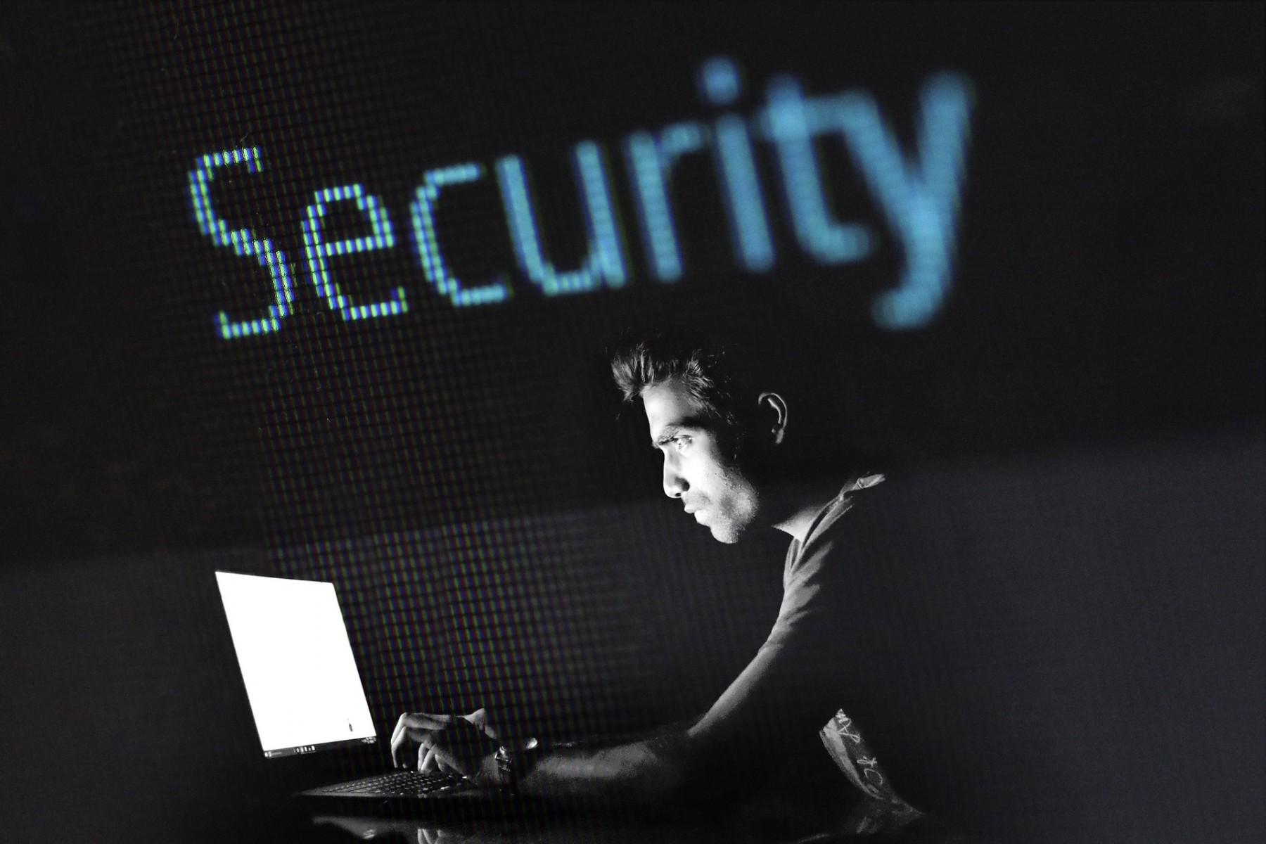 Hacking and cybersecurity stock image