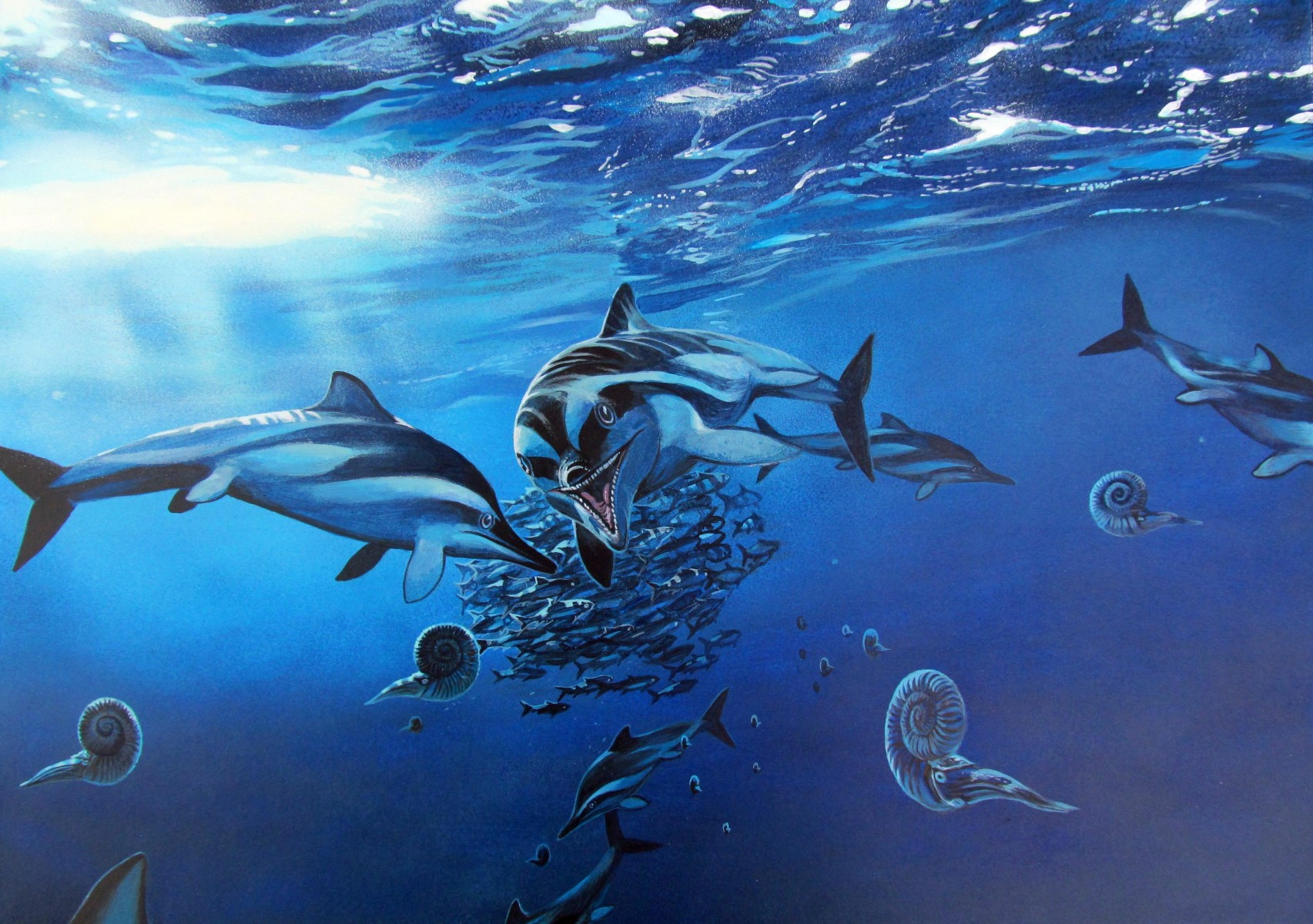 Ichthyosaurus life restoration - Artwork by James McKay (2)