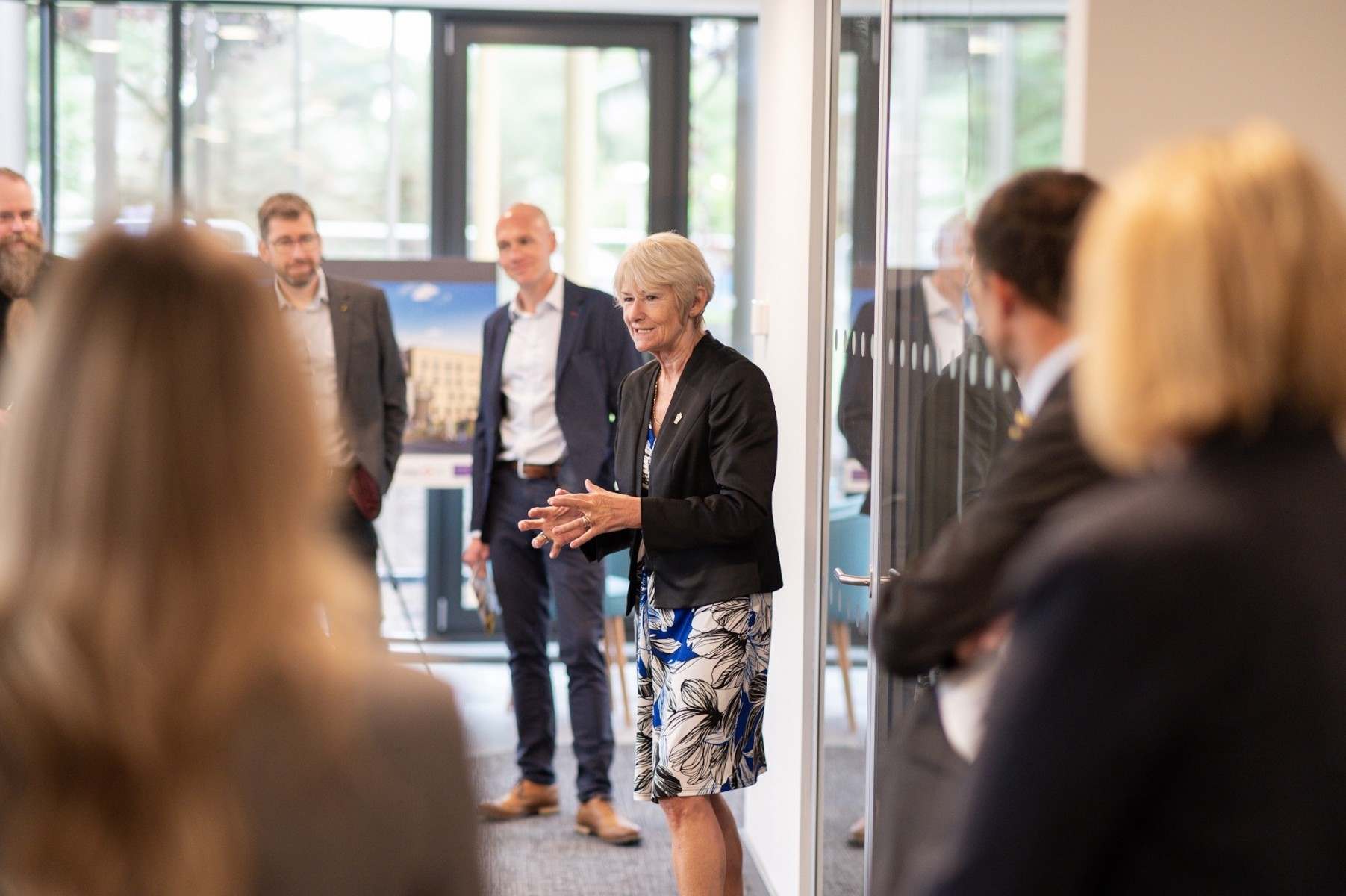 President and VC, Prof Dame Nancy Rothwell  at Unsworth Park opening