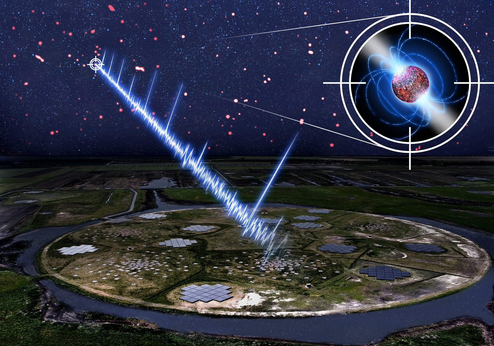 Artist's conception of the newly discovered 23.5-second pulsar