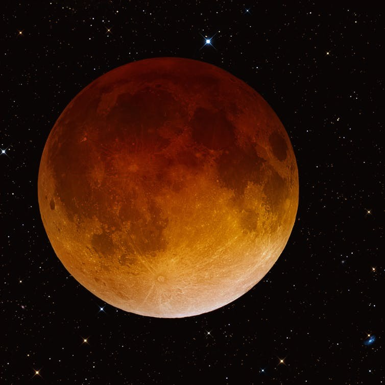 Blood moon on April 15, 2014.