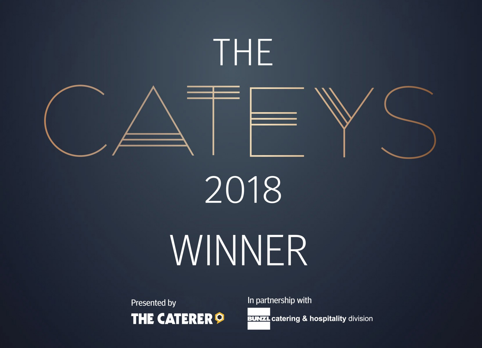 The 2018 Catey Winner Logo