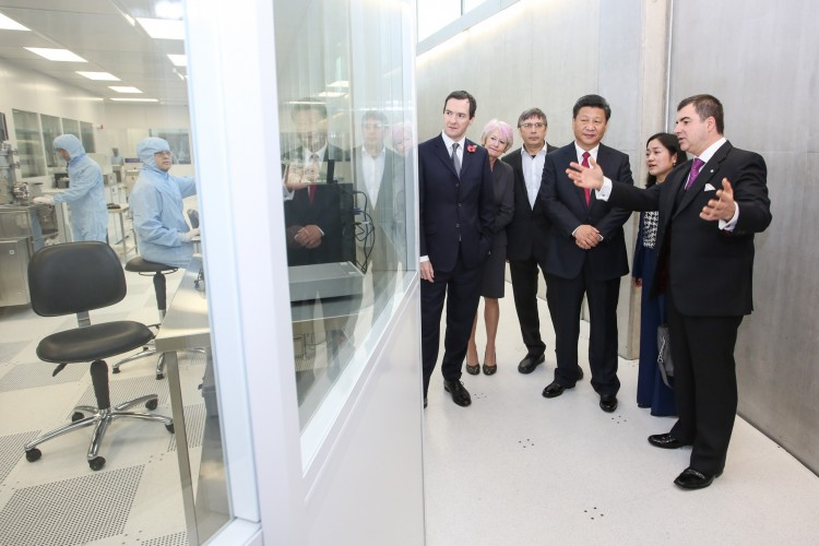 China's President Xi Jinping visits the National Graphene Institute