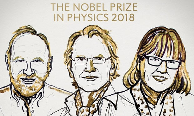 Arthur Ashkin, Gérard Mourou and Donna Strickland - 2018's Nobel laureates in physics.