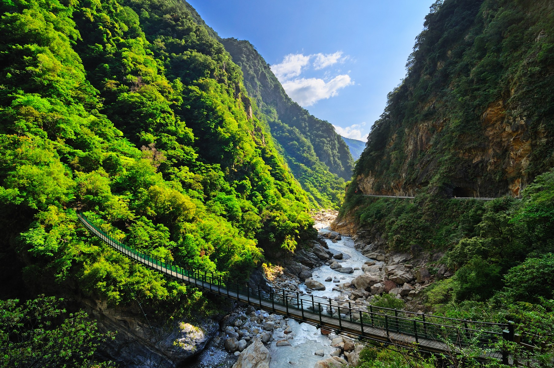 Bridge at Taroko National Park in Hualien, Taiwan