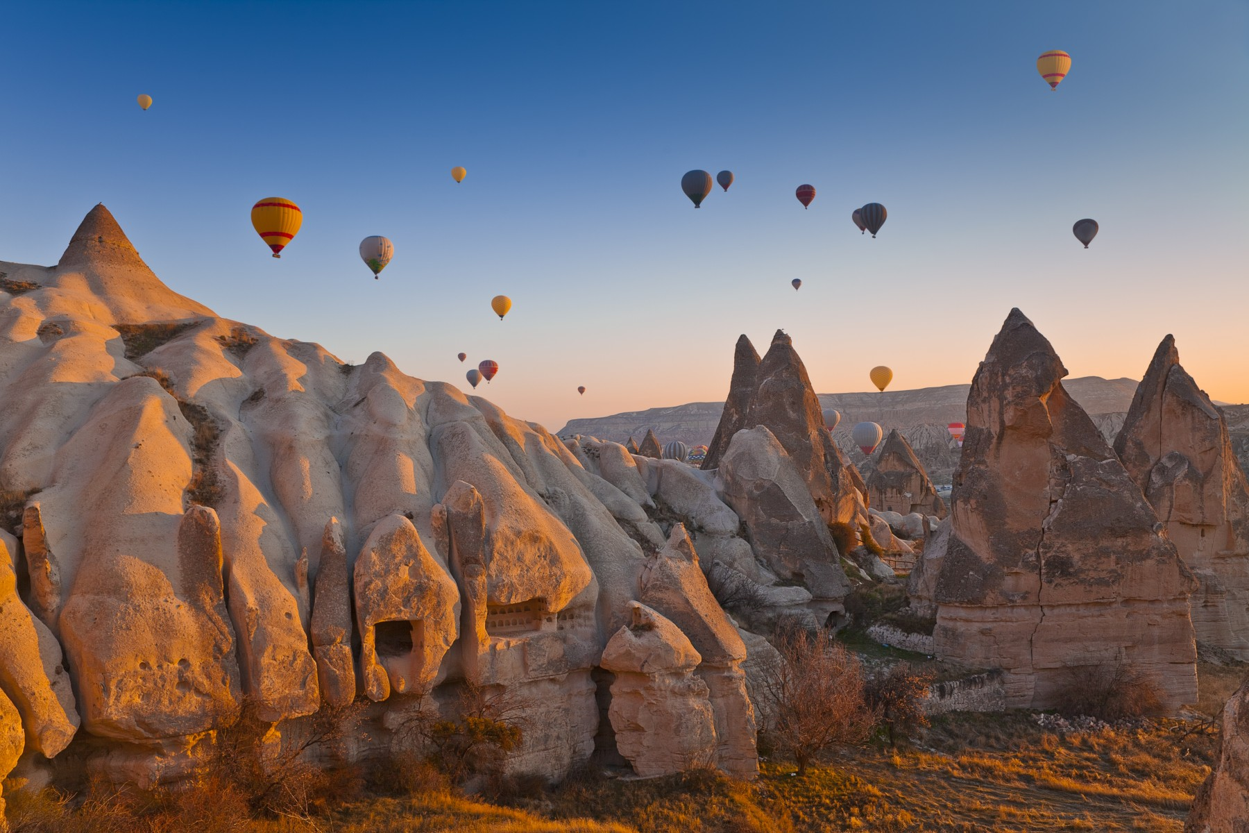 Goreme Valley in Cappadocia, Turkey