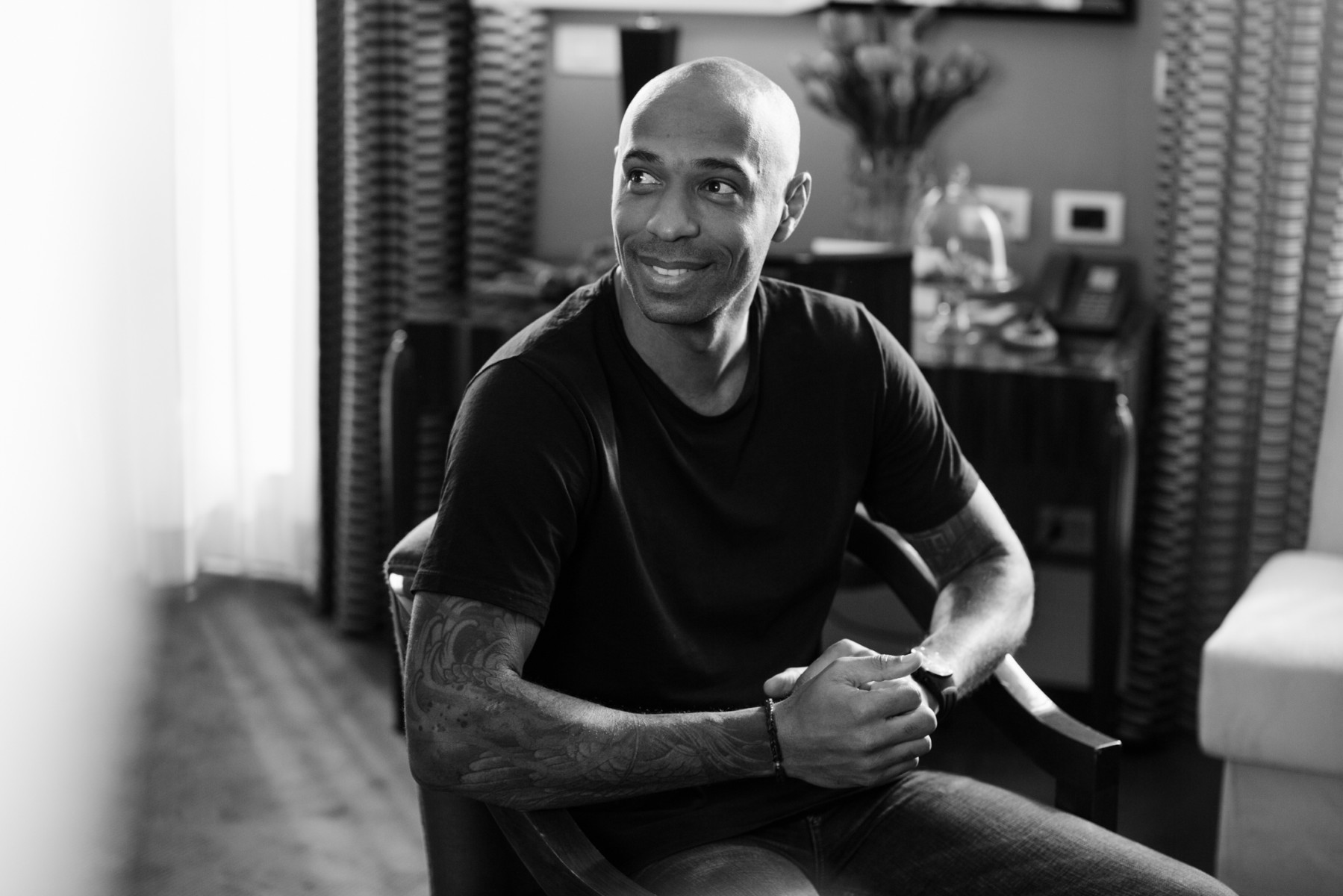Thierry Henry at Grand Hotel Via Veneto