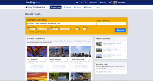 Booking.com for Business | Saved Destinations