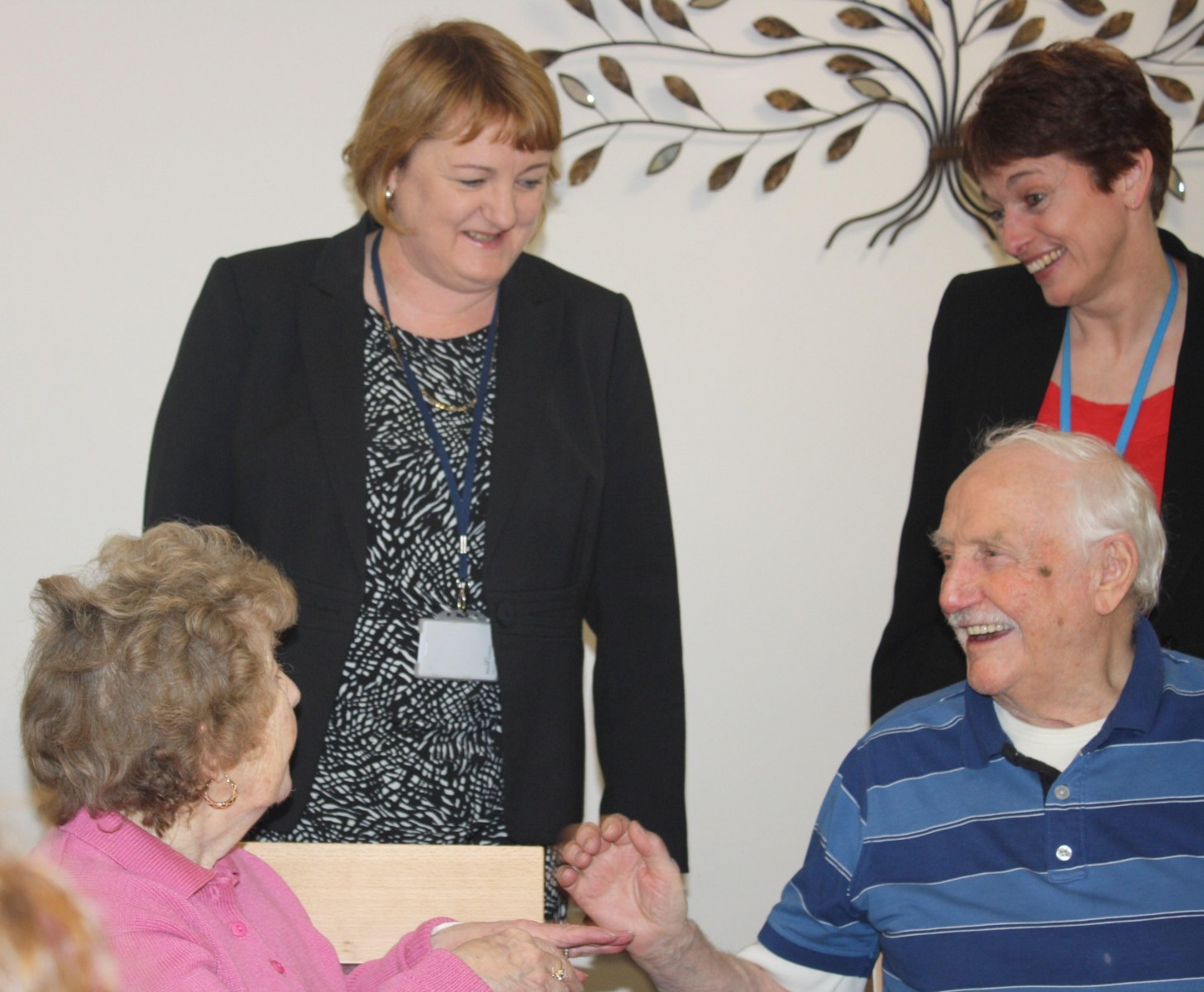 Cllr Coupar and service manager Juliet Duke at Farrar Lane opening.jpg