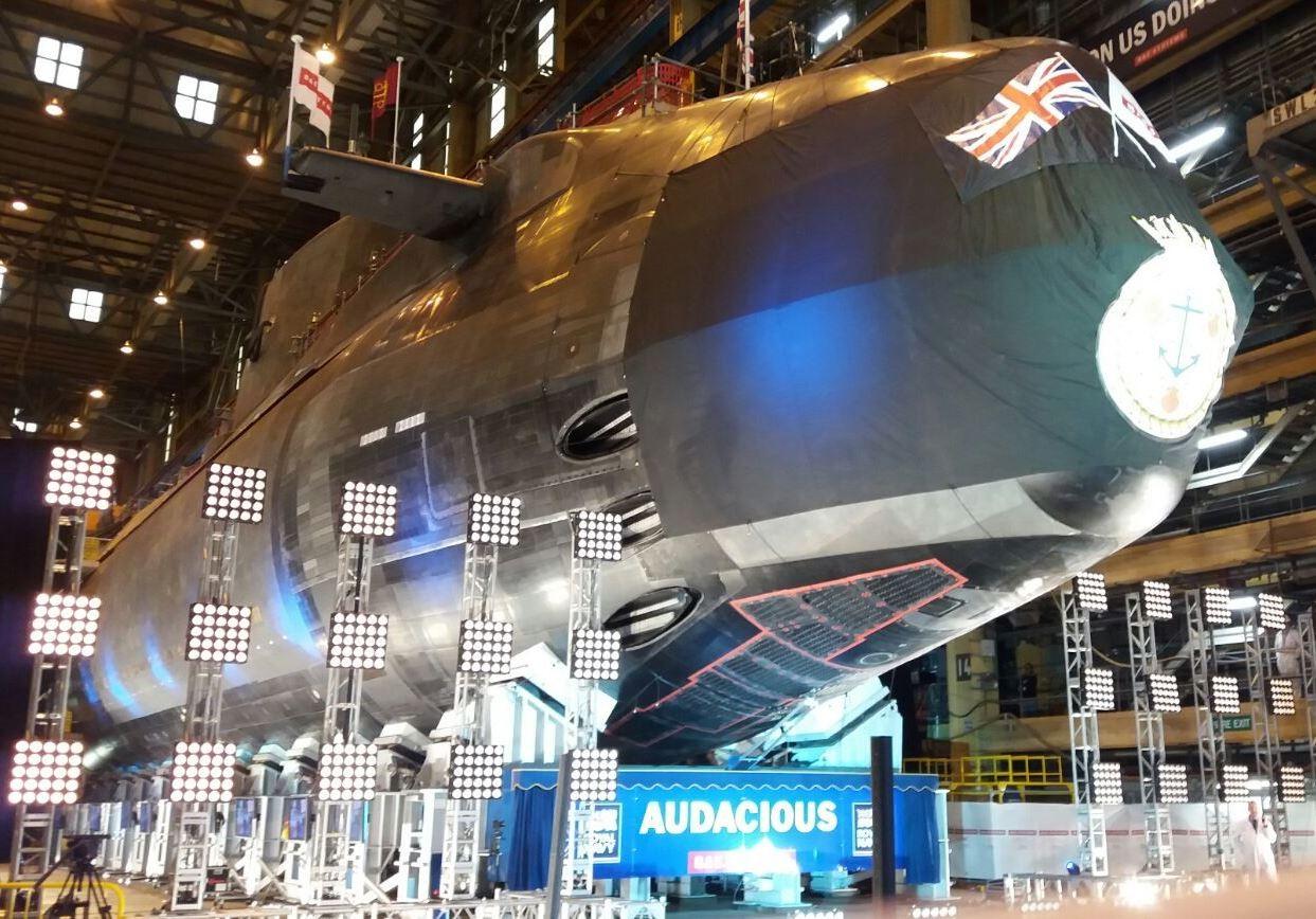 New Royal Navy Submarine Hms Audacious Officially Tied
