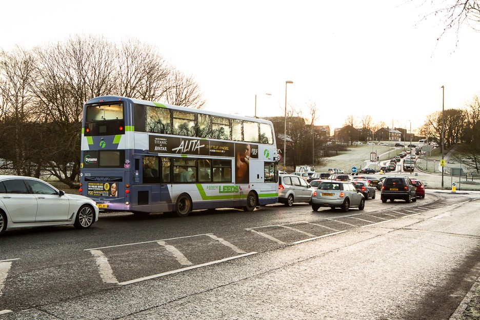 Bus roundabout Stonegate Road