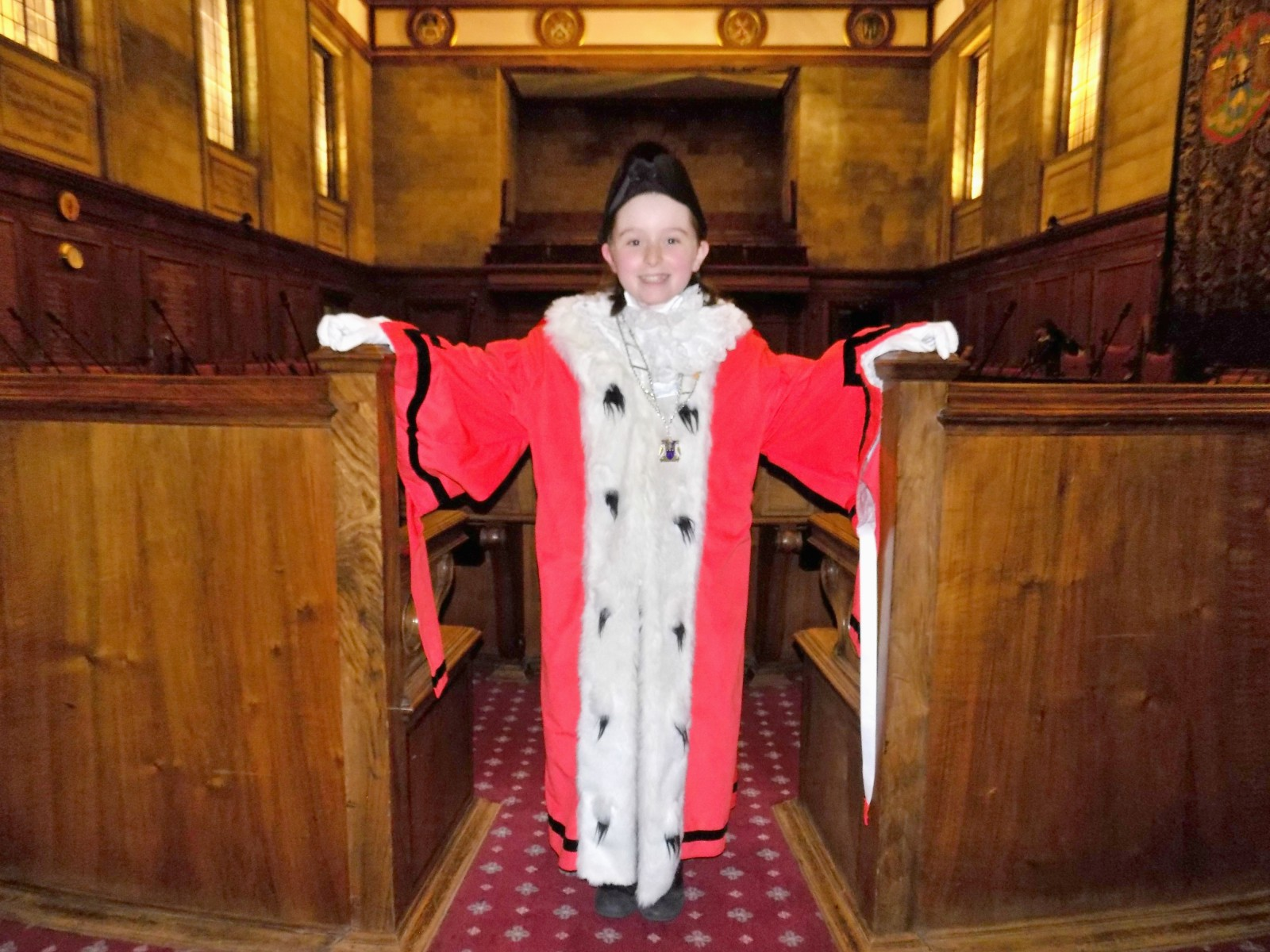 The new Leeds Children's Mayor, Grace Branford from Drighlington Primary School