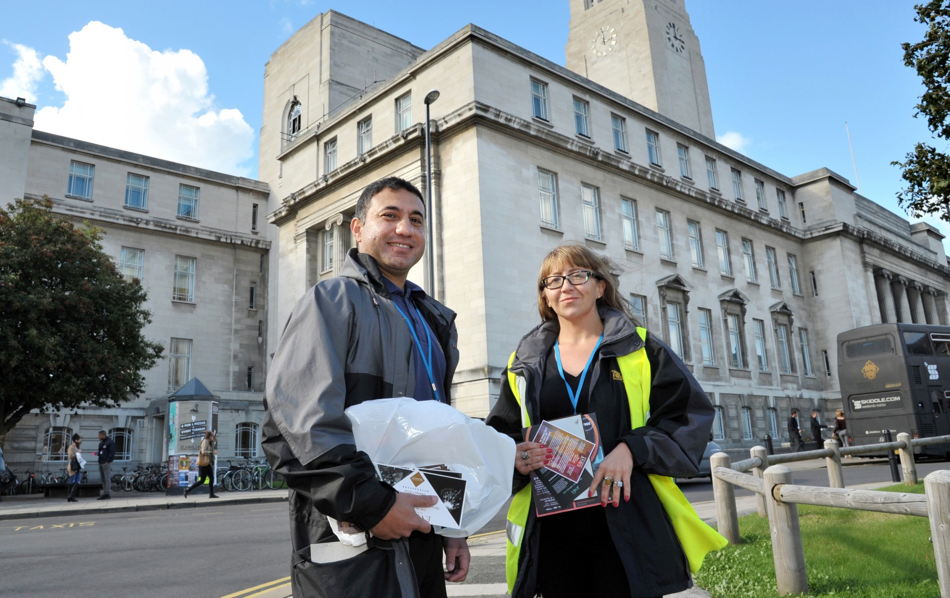 Environmental action officers Aqeel Syed and Annie Hutton