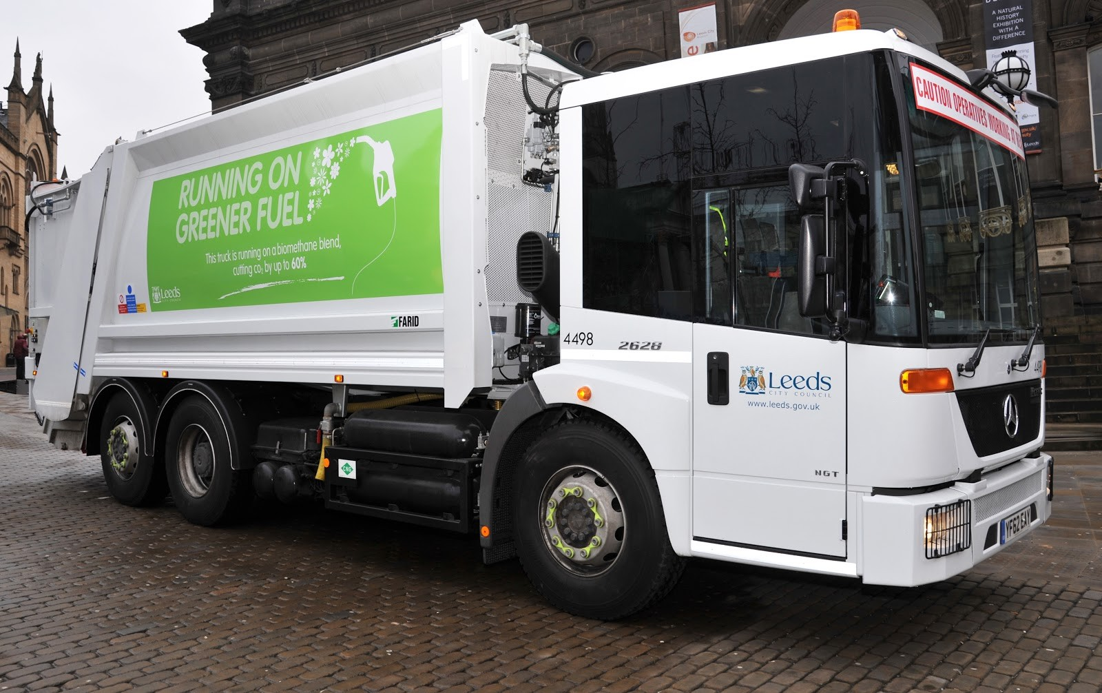 One of the council's bin wagons that runs on greener fuel
