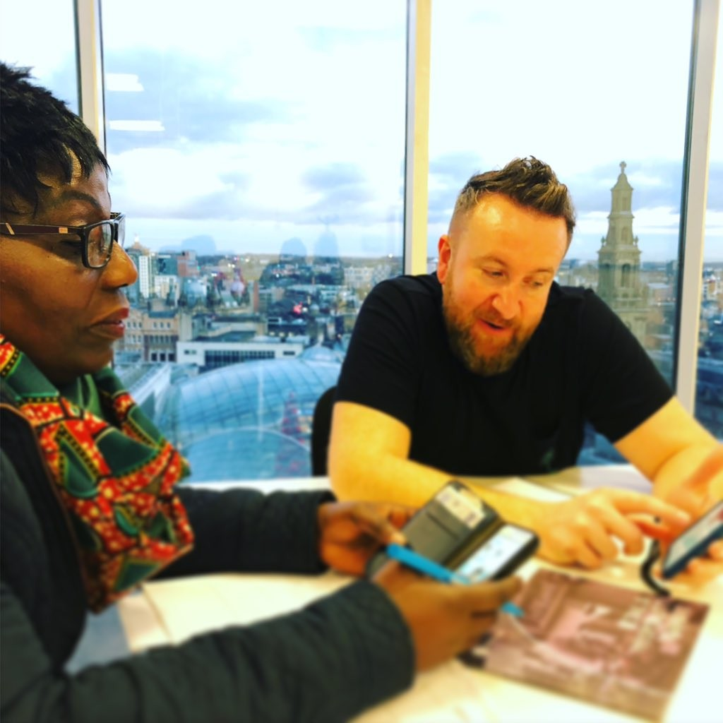 Marie Johnson (Afriq Boutique) and Simon McCaskill (Leeds Boost)