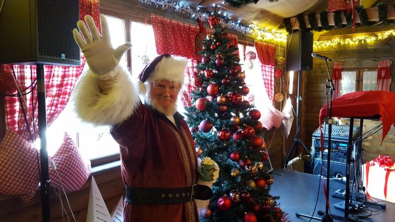 Santa at the christmas market