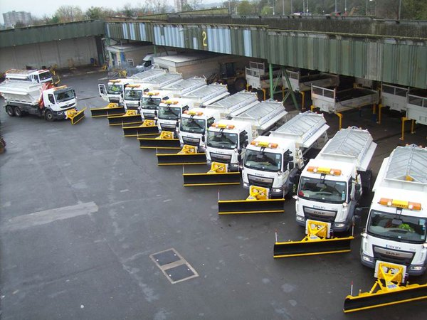 Gritting trucks at the ready