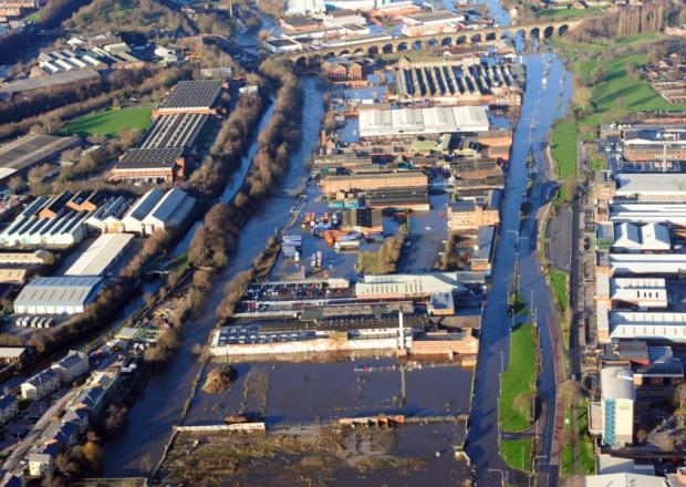 Image of Kirkstall Road floods Christmas 2015  (credit Environment Agency)