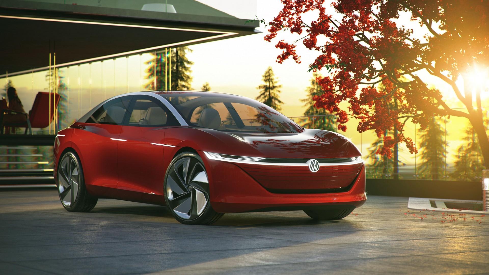 Autonome Volkswagen I D Vizzion Nieuw Topmodel Elektrische I D Serie