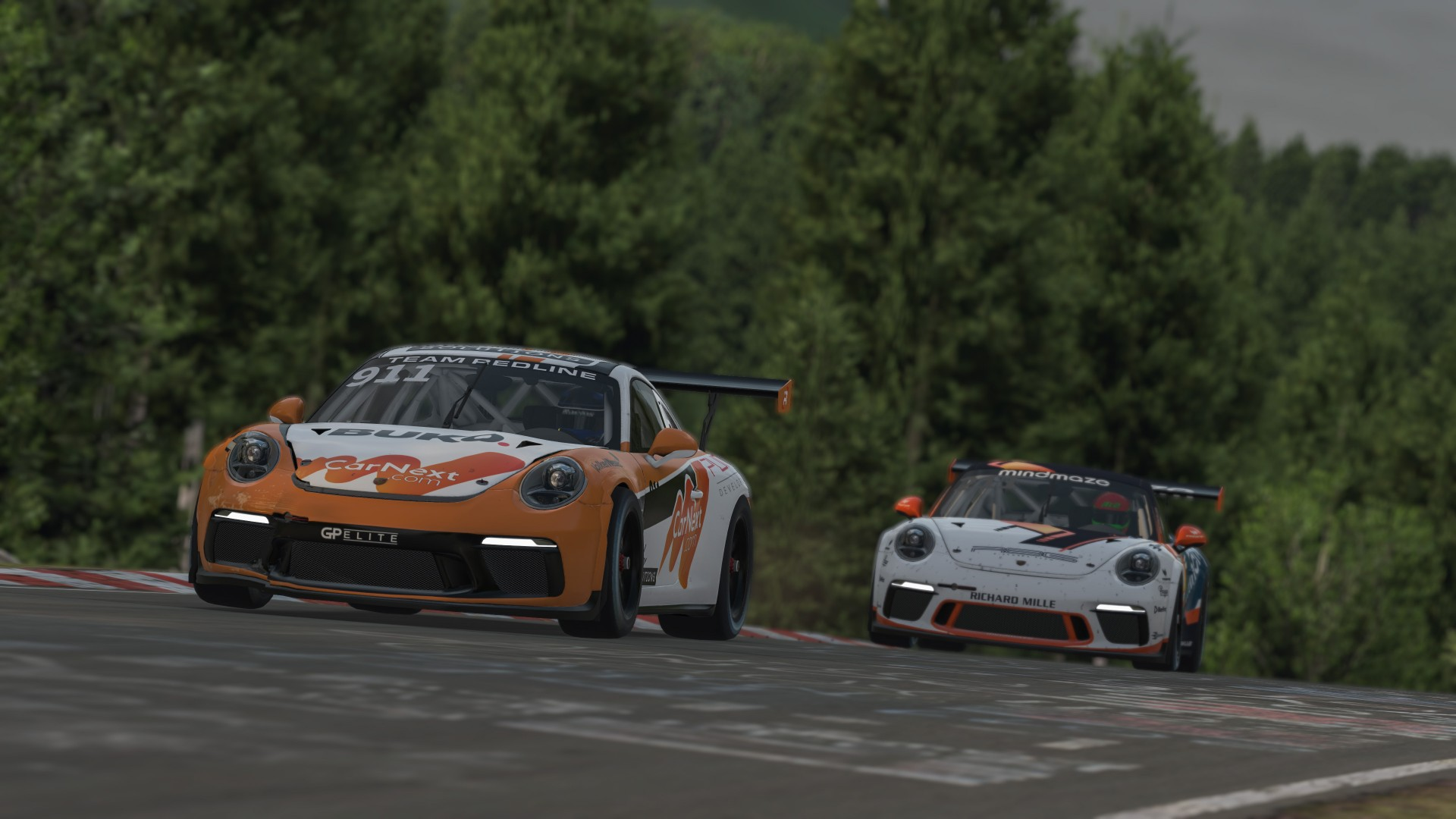 Porsche24 driven by Redline wint klasse in virtuele 24-uursrace Nürburgring
