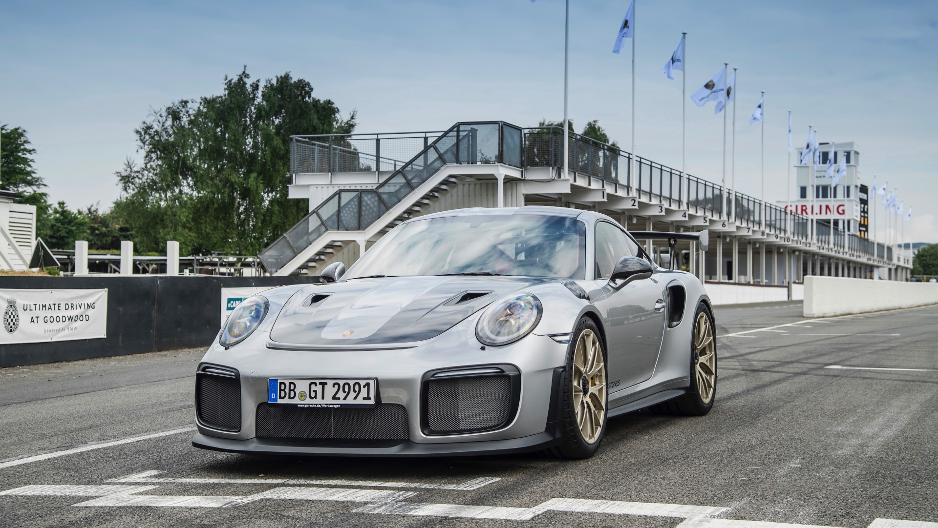Porsche 911 GT2 RS op Goodwood