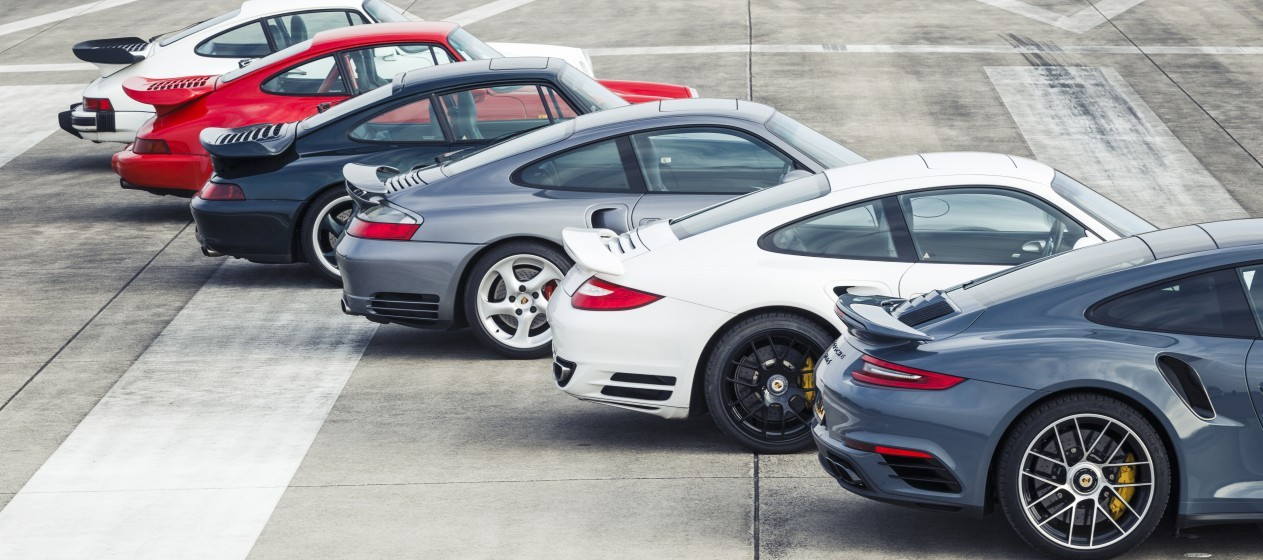 Zes generaties Porsche 911 Turbo