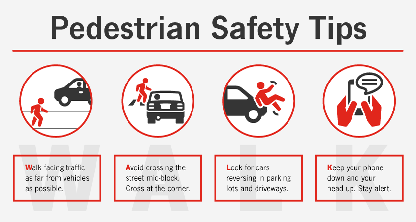 Pedestrian Safety Tips Infographic