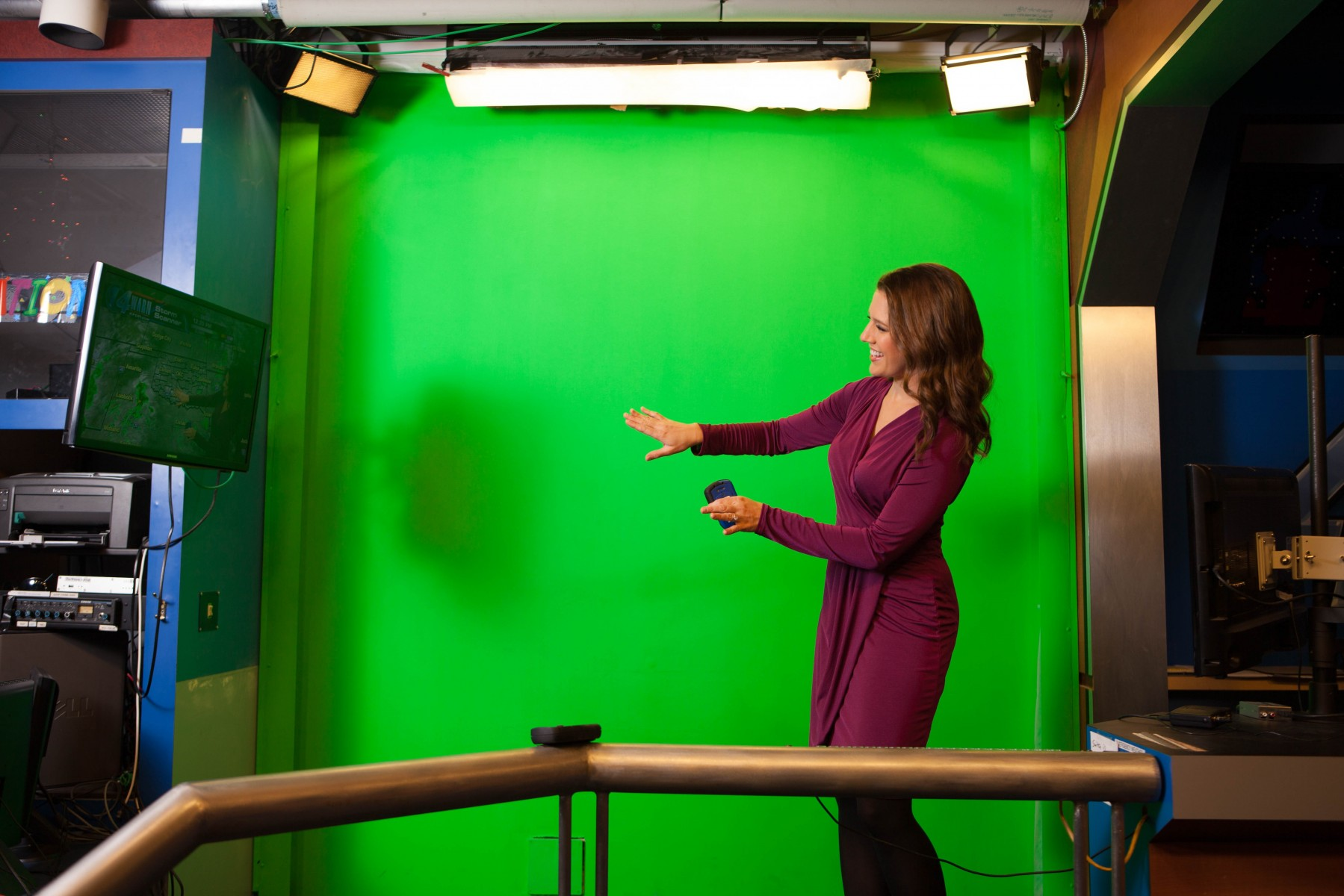 In Front of the Green Screen!