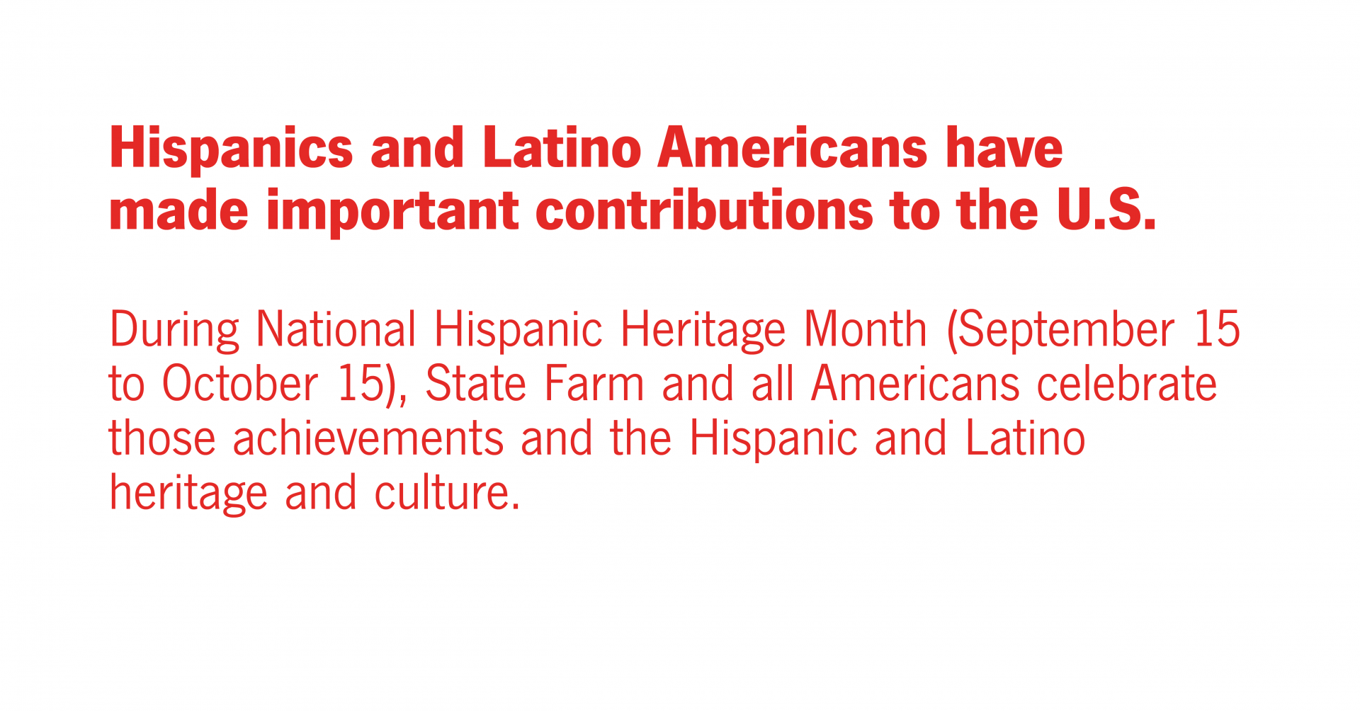 Celebrating National Hispanic Heritage Month