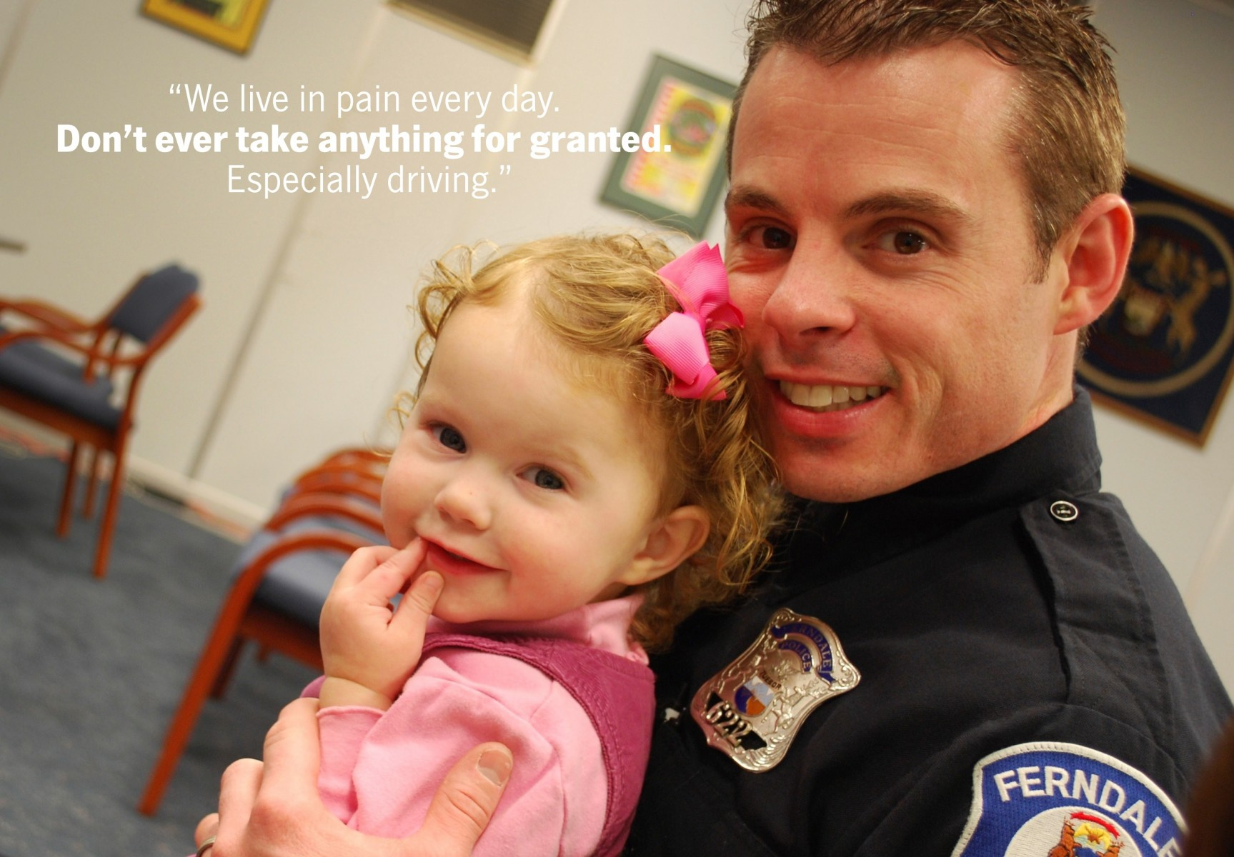 Officer John Cleveland and his late daughter Olivia.