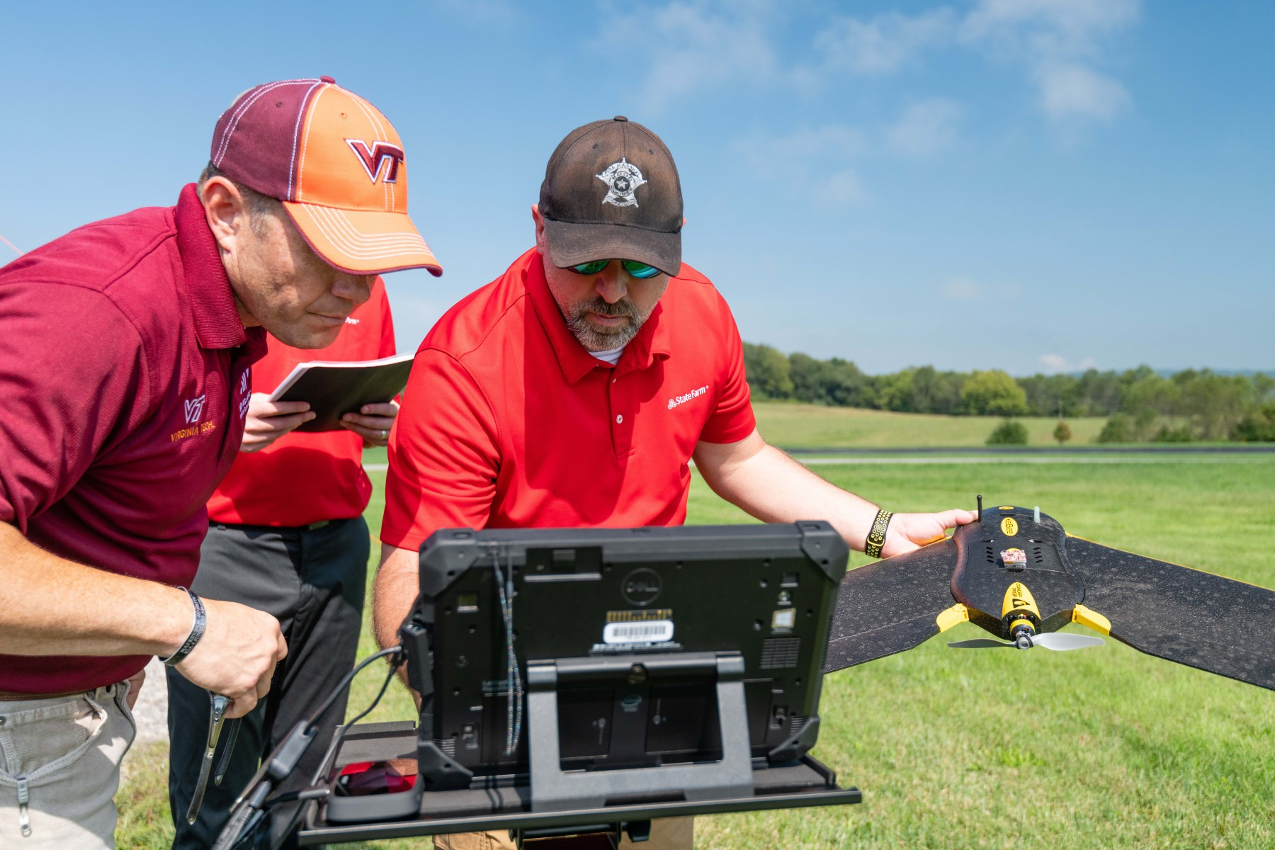 State Farm drone pilots conduct drone flights with Mid-Atlantic Aviation Partnership (MAPP) at Virginia Tech