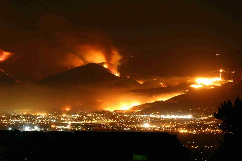 2007 Witch Creek Fire near San Diego