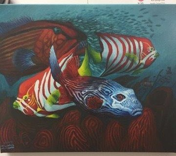 Fish painting by Remmick